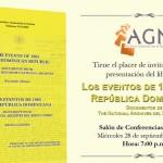 """El AGN presentará libro """"Los eventos de 1965 en República Dominicana"""""""