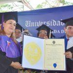 Fe Aristalia Hidalgo Núñez con máximo honor en graduación UASD San Francisco de Macorís