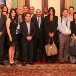 Danilo recibe a 80 periodistas de la Alianza Informativa Latinoamericana