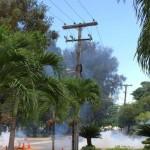 Disturbios provocan suspensión de docencia otra vez en la UASD