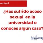 La comunidad Libertarias RD recaba testimonios sobre acoso sexual en las universidades
