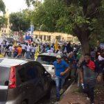 Heridos en protesta de la UASD por un mayor presupuesto