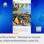 """Carmen Danae: """"La industria de turismo masivo y no sostenible ha estado destruyendo durante muchas décadas nuestras costas"""""""